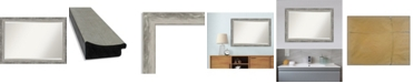"Amanti Art Waveline Silver-tone Framed Bathroom Vanity Wall Mirror, 40.38"" x 28.38"""