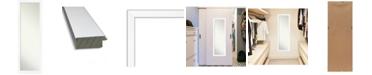 "Amanti Art Cabinet on The Door Full Length Mirror, 17.25"" x 51.25"""