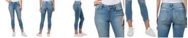 WILLIAM RAST Distressed Raw Hem Ankle Jeans