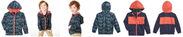 Epic Threads Little Boys Reversible Water-Resistant Hooded Windbreaker, Created for Macy's