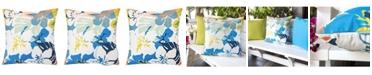 "Homey Cozy Annemarie Flower Garden 20"" x 20"" Outdoor Decorative Pillow"