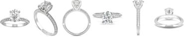 Charles & Colvard Moissanite Oval Engagement Ring (2-3/8 ct. t.w. DEW) in 14k White Gold