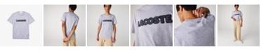 Lacoste Men's Regular Fit Short Sleeve Crew Neck Jersey T-shirt with Lacoste Herringbone Logo