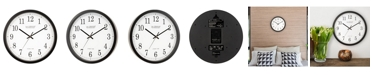 """La Crosse Technology 14"""" Black Atomic Analog Wall Clock"""