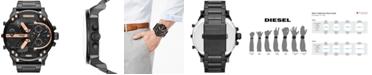 Diesel Men's Mr. Daddy 2.0 Black Ion-Plated Stainless Steel Bracelet Watch 66x57mm DZ7312