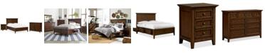 Furniture Matteo Storage Platform Bedroom 3 Piece Bedroom Set, Created for Macy's,  (Full Bed, Dresser and Nightstand)