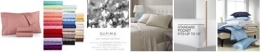 Charter Club  CLOSEOUT! Solid Sheet Sets, 550 Thread Count 100% Supima Cotton, Created for Macy's