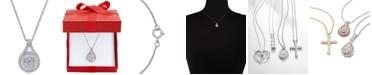 Macy's Diamond Baguette Cluster Pendant Necklace (1/2 ct. t.w.)