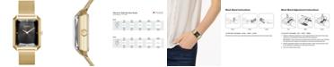 DKNY Women's Cityspire Gold-Tone Stainless Steel Mesh Bracelet Watch 27x34mm, Created for Macy's
