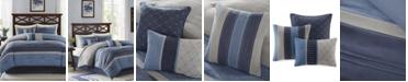 Madison Park Collins 7-Pc. Faux-Suede Queen Comforter Set