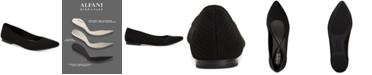 Alfani Women's Step 'N Flex Poppyy Pointed Toe Knit Flats, Created for Macy's