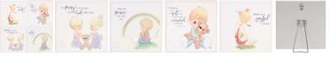 Precious Moments Set of 4 Original Artwork 40th Anniversary Wall Plaques