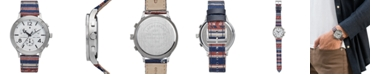 Lucky Brand Men's Chronograph Rockpoint Stripe Canvas Strap Watch 42mm