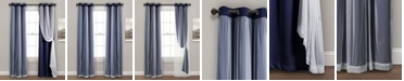 """Lush Decor Solid and Sheer Layered 38"""" x 120"""" Blackout Curtain Set"""