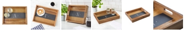 Cathy's Concepts Personalized Acacia and Slate Tray