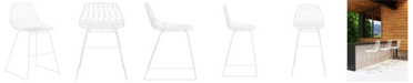 Zuo Brody Bar Chair White (Set of 2)