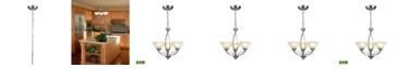 ELK Lighting D Elysburg Collection 3-Light Satin Nickel Chandelier