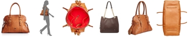 Dooney & Bourke Florentine Domed Buckle Leather Satchel