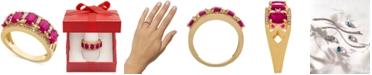 Macy's Ruby (2 7/8 ct. t.w.) & Diamond (1/3 ct. t.w.) Ring in 14k Gold (Also in Sapphire, Tanzanite and Emerald)