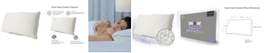 Protect-A-Bed Queen Therm-A-Sleep Snow Memory Foam Clusters Soft Pillow ft. Nordic Chill Fiber and Tencel