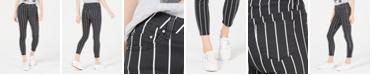 Tinseltown Juniors' Striped Skinny Jeans