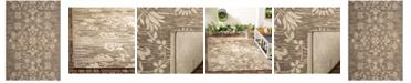 "Safavieh Courtyard Dark Beige and Beige 5'3"" x 7'7"" Sisal Weave Area Rug"