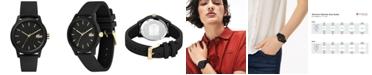Lacoste Women's 12.12 Black Rubber Strap Watch 36mm