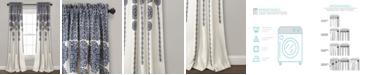 "Lush Decor Stripe Medallion Room Darkening Window Curtain Panel Set, 52""x95"""