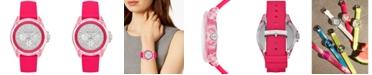 Michael Kors Women's Wren Neon Pink Silicone Strap Watch 42mm