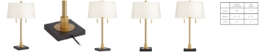 Pacific Coast Column Table Lamp with Gear Accent