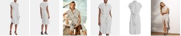 Lauren Ralph Lauren Stripe-Print Crepe Shirtdress