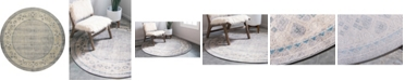 Bridgeport Home Bellmere Bel1 Gray 8' x 8' Round Area Rug