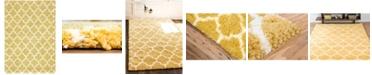 Bridgeport Home Fazil Shag Faz4 Yellow 4' x 6' Area Rug