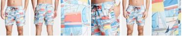 Nautica Men's Big & Tall Printed Swim Trunks