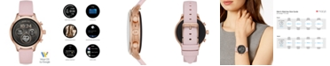 Michael Kors Access Gen 4 Runway Pink Silicone Strap Touchscreen Smart Watch 41mm, Powered by Wear OS by Google™