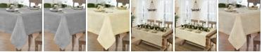 "Villeroy & Boch La Classica Luxury Metallic Linen Fabric Tablecloth, 70""x146"""