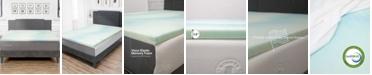 "eLuxury 1.5"" Thick Temperature Regulating Memory Foam Topper - Twin"
