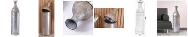 "Vintiquewise 43"" Rustic Farmhouse Style Galvanized Metal Floor Vase Decoration, Large"