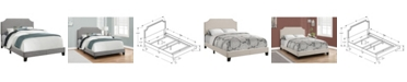 Monarch Specialties Full Size Linen Bed