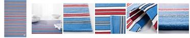 Lauren Ralph Lauren Leopold Stripe LRL2462D Royal Blue 8' X 10' Area Rug