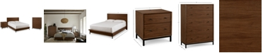 Furniture Oslo Bedroom Furniture, 3-Pc. Set (Full Bed, Nightstand & 5 Drawer Chest), Created for Macy's