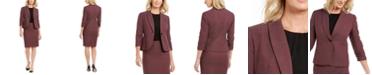 Le Suit Single-Button Skirt Suit