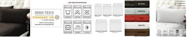 Color Sense Damask Stripe Sateen Stripe Sheet Set- Twin
