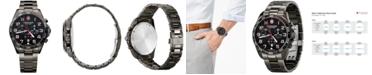 Victorinox Swiss Army Men's Chronograph Fieldforce Sport Gray PVD Stainless Steel Bracelet Watch 42mm