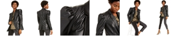 INC International Concepts INC Faux-Leather Blazer, Created For Macy's