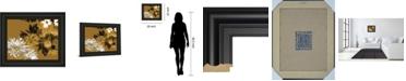 "Classy Art Golden Bloom I by Framed Print Wall Art, 22"" x 26"""
