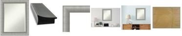 "Amanti Art Elegant Brushed Framed Bathroom Vanity Wall Mirror, 22.75"" x 28.75"""