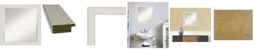 "Amanti Art Rustic Plank Framed Bathroom Vanity Wall Mirror, 23.38"" x 23.38"""
