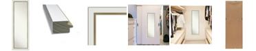 "Amanti Art Eva Gold-tone on The Door Full Length Mirror, 17.12"" x 51.12"""