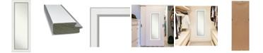 "Amanti Art Eva Silver-tone on The Door Full Length Mirror, 19.25"" x 53.25"""